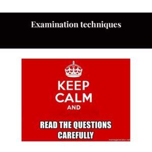 Técnicas de examen