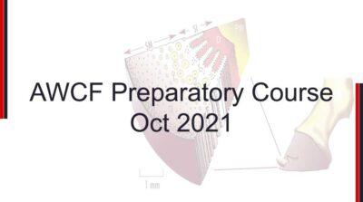 AWCF Preparatory Course Oct 2021